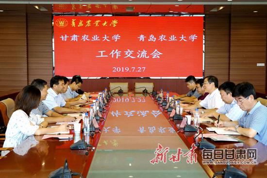 甘肃农业大学党委书记钟福国调研实践教学基地并深入有关高校考察